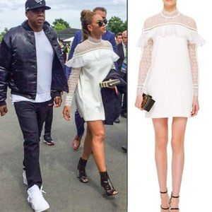 Self-Portrait Seen on Beyonce White Ruffle Dress 2